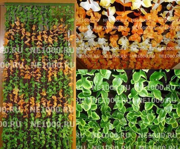 шторы листья бамбука